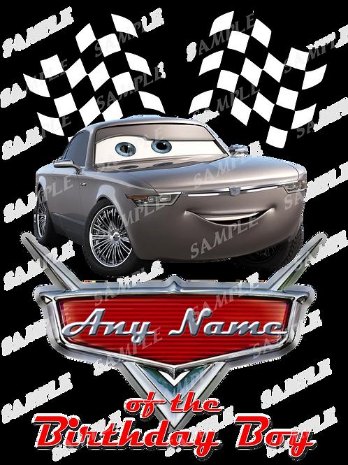 Disney Cars Birthday Shirt. McQueen Cars Iron on transfer. Printable 1