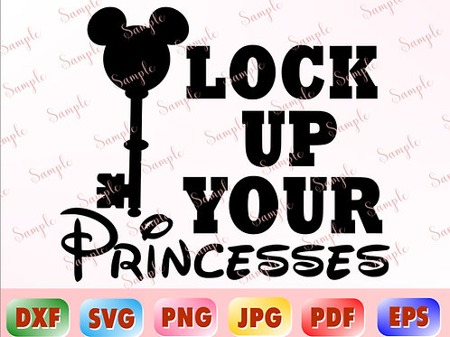 Lock Up Your Princesses svg