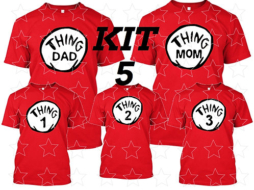Thing One and Thing Two Dr. Seuss iron on transfer Thing Mom Thing Dad