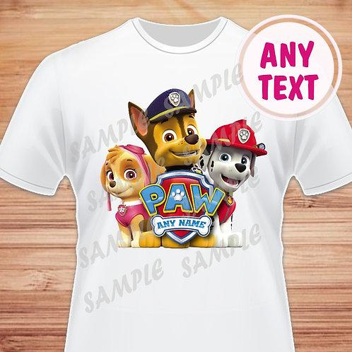 Paw Patrol Birthday Shirt. Paw Patrol Iron on. Skye Chase Marshall