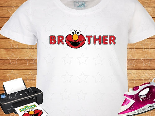 Sesame Street Elmo Brother iron on transfer. Instant Download.