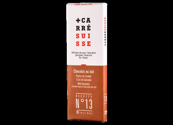 Tablette de Chocolat Chocolat au Lait et Caramel - Carré Suisse - 40g (x36)