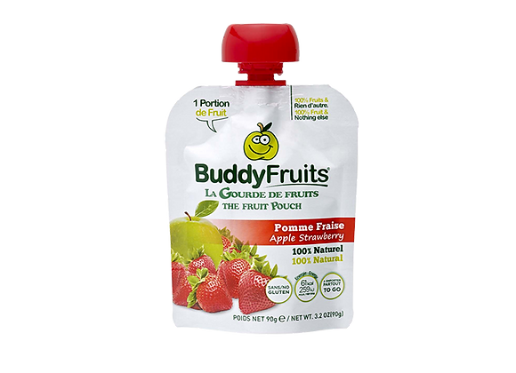 Compote Pomme Fraise - BuddyFruits - 90g (x18)