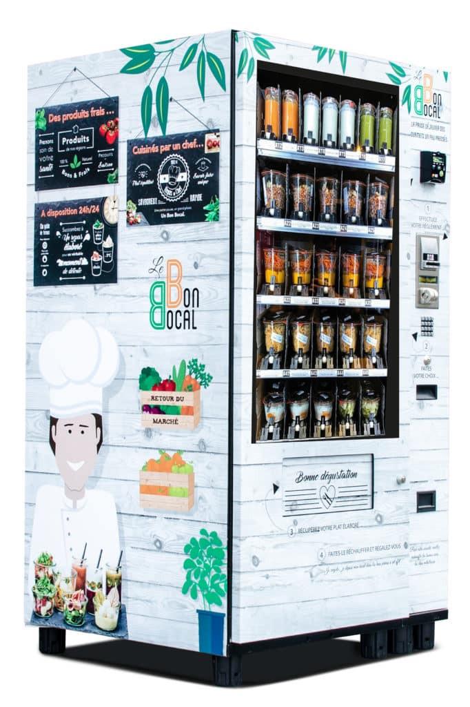 Distributeur automatique de repas élaborés par un chef : Le Bon Bocal