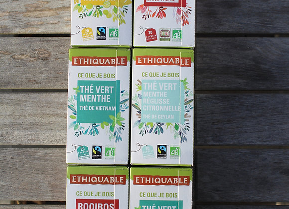 PACK 6 BOITES DE THÉS (BIO & FAIRTRADE)
