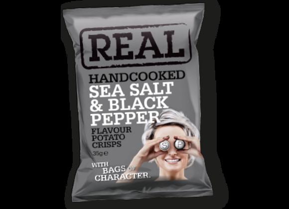 Chips Sel de Mer et Poivre Noir - Real - 35g (x24)