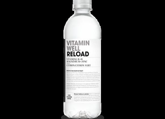 Eau Energisante Citron Citron Vert Reload - Vitamin Well - 50 cl (x12)