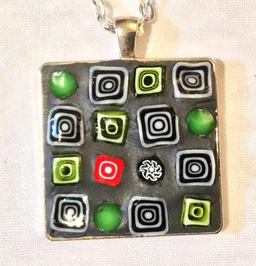 1 18 square mosaic pendant nina di giovanni contemporary 1 18 square mosaic pendant aloadofball Choice Image