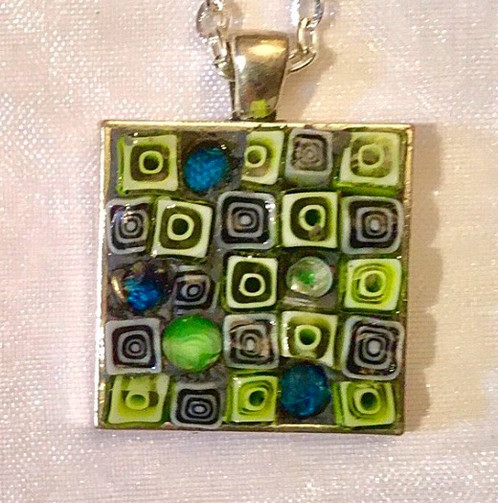 1 116 square mosaic pendant nina di giovanni contemporary 1 116 square mosaic pendant aloadofball Choice Image