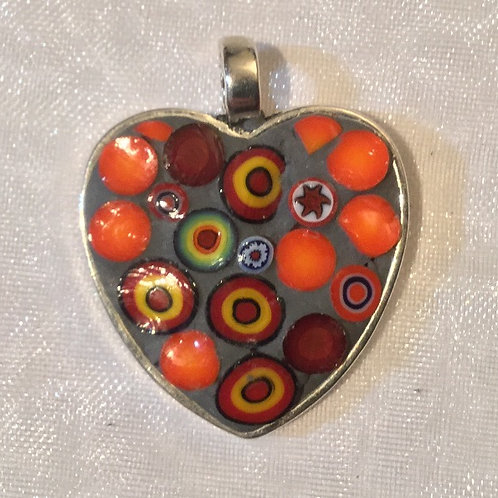 "1"" Mosaic Heart"