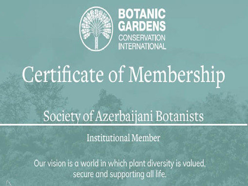 Society of Azerbaijan Botanists was elected the member to the Botanic Gardens Conservation Internati