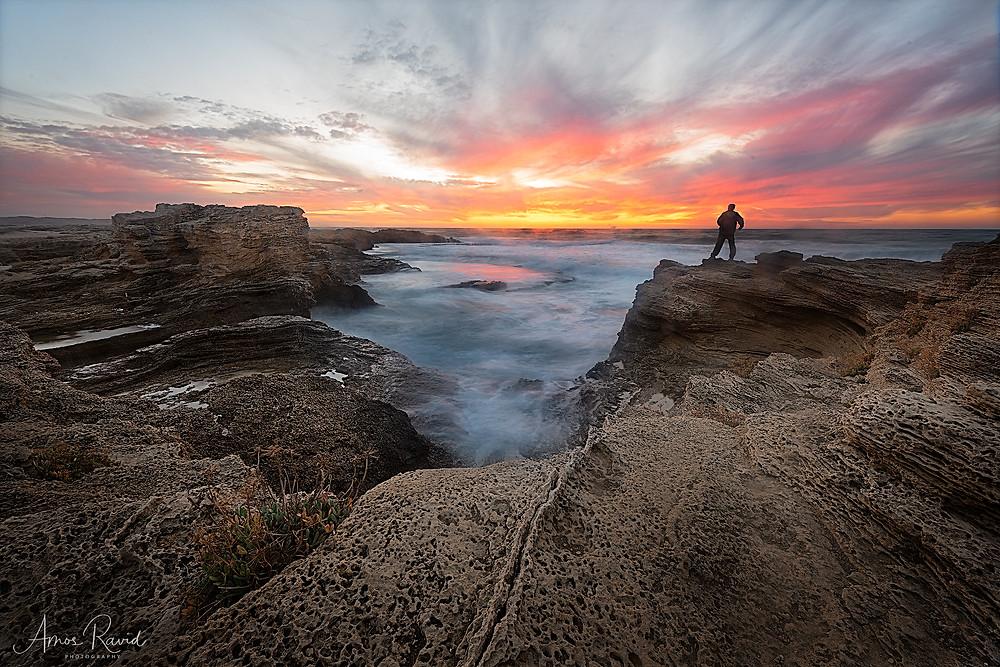 Sunset at Dor Habonim Beach, Israel חוף דור הבונים