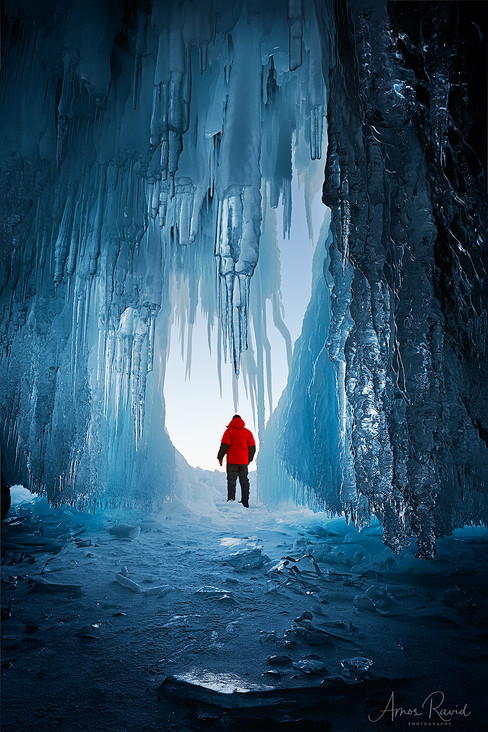 Red Jecket In a Blue Cave