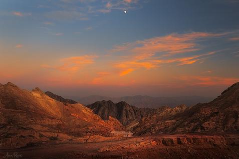 Moonrise Over Desert View