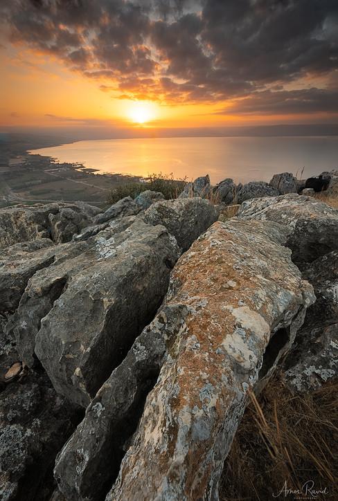 Sunrise over the Sea of Galilee