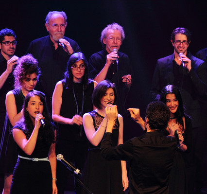 Erez Tal is conducting Vocalocity's Sopranos
