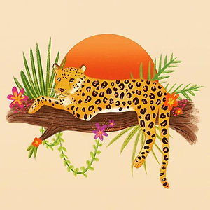 Illustrated this little leopard using pr