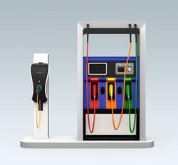 無人電気ガソリンスタンド