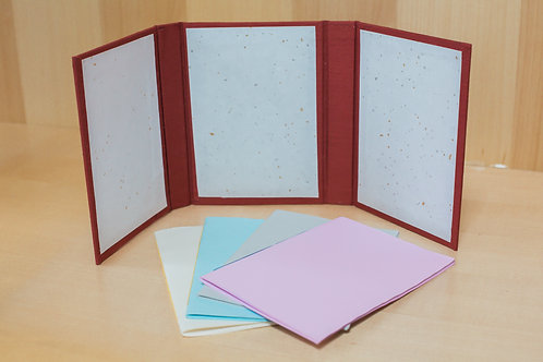 4 Small Journals with Cloth Covered Case