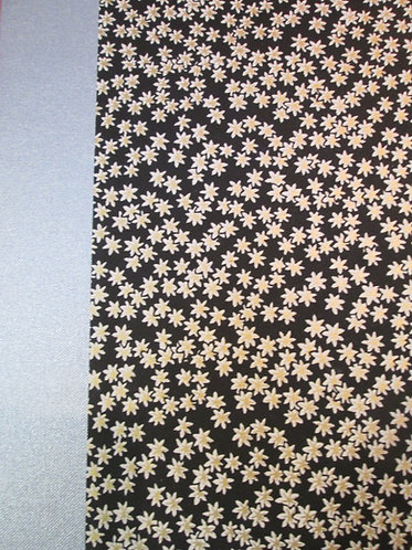 Art Portfolio Black with White Flowers