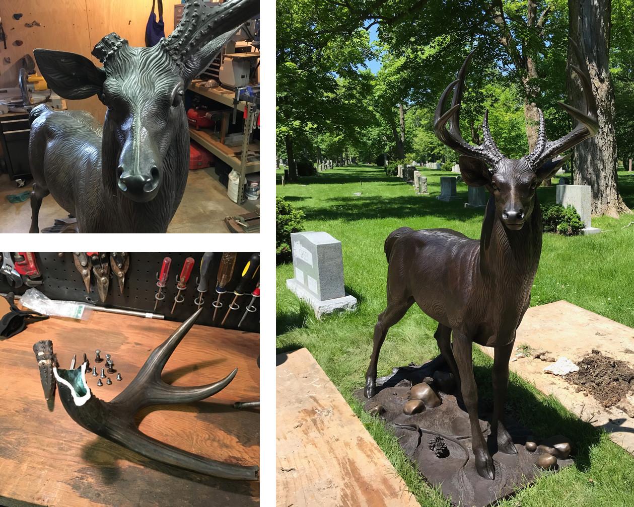 Restoration of Bronze Stag