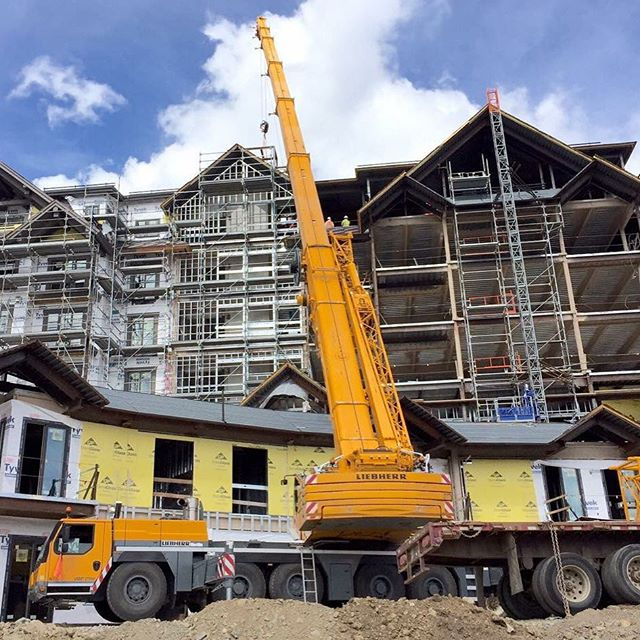 Our 240 Liebherr setting air units on Peak 8 in Breckenridge