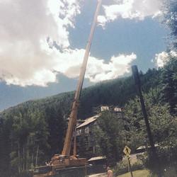 240 ton crane at Vail