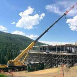 Beaver Creek grandstand tear down.jpg 131ft of Boom & 59 ft of jib
