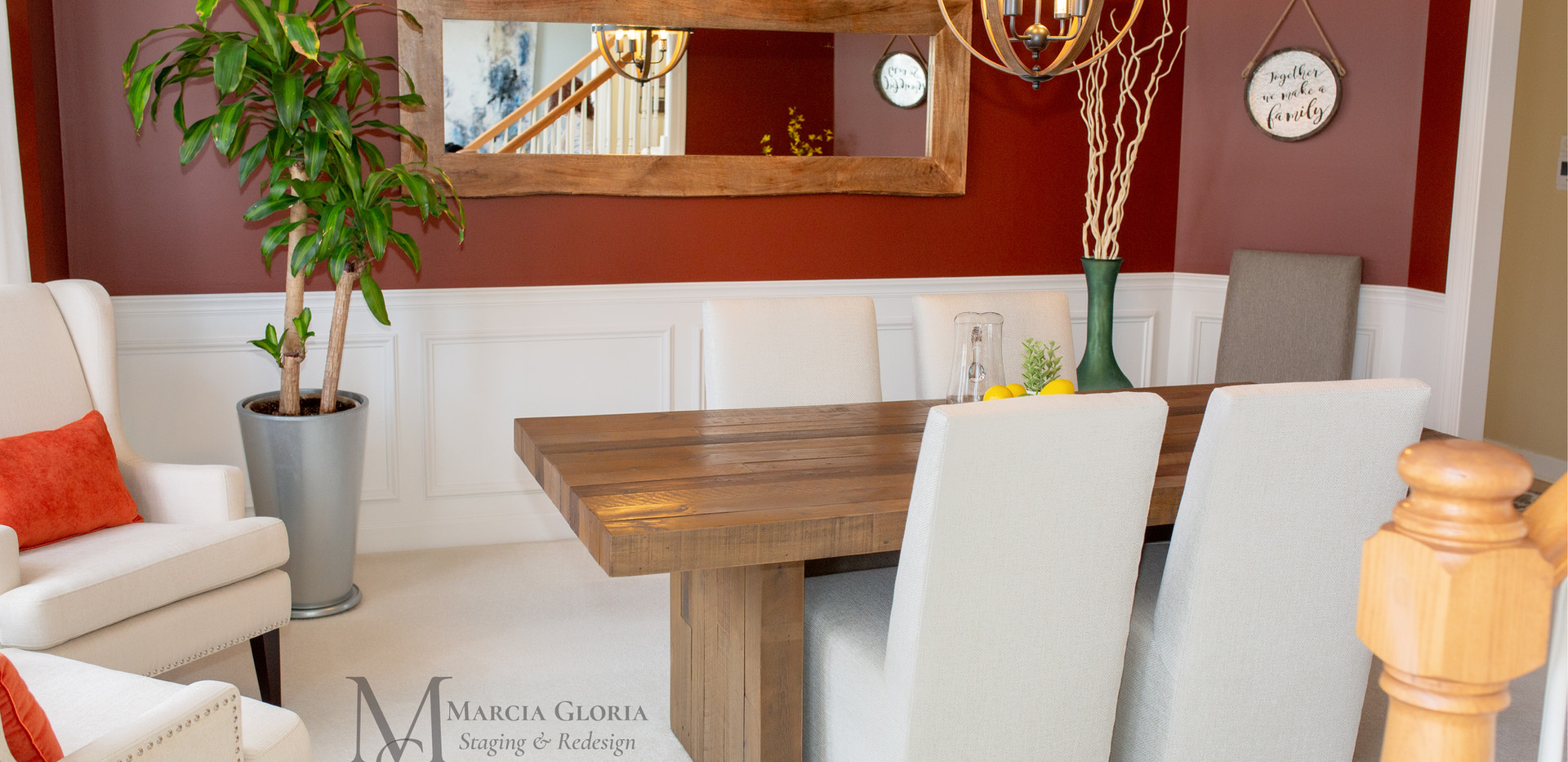 Dining Room Staging - Marcia Gloria Staging & Redesign
