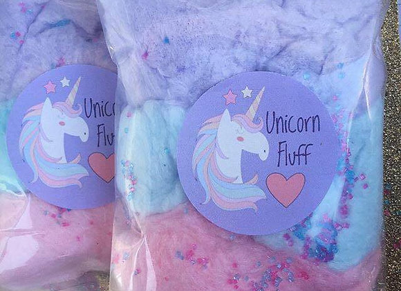 20 Pack - Magical Unicorn Fluff Cotton Candy