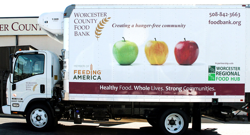 Worcester County Food Bank Truck Graphics
