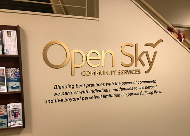 Open Sky Lobby Signage