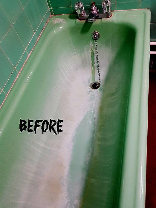 cast iron bath needs re-enamelling