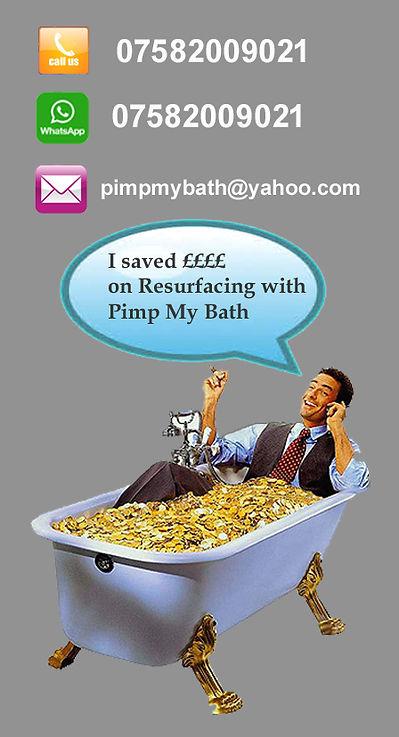 enamelling baths