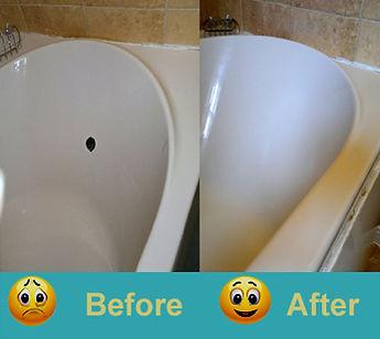 hole in bath repair