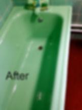 green cast iron bath resurfacing