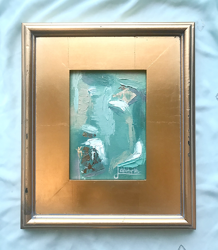 Gold Leaf Abstract - Sage & Spruce - 2