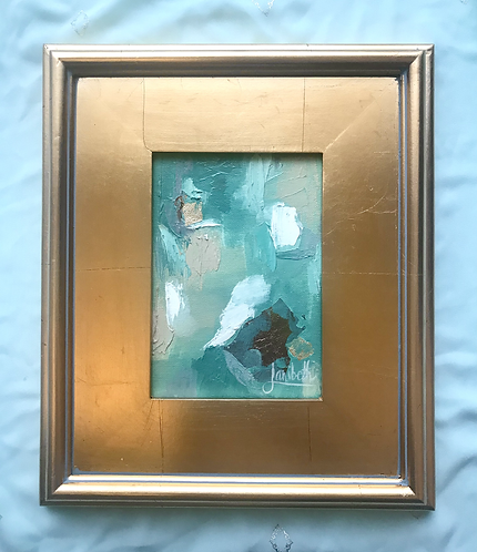 Gold Leaf Abstract - Sage & Spruce - 1