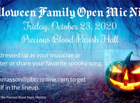 Halloween Family Open Mic Night