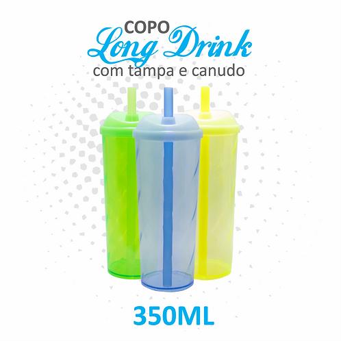 Long Drink com Tampa e Canudo - 100 unidades