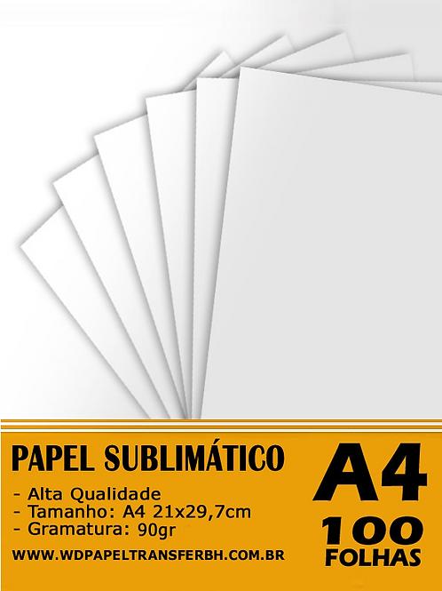 Papel Sublimação - 90g - 100 fls