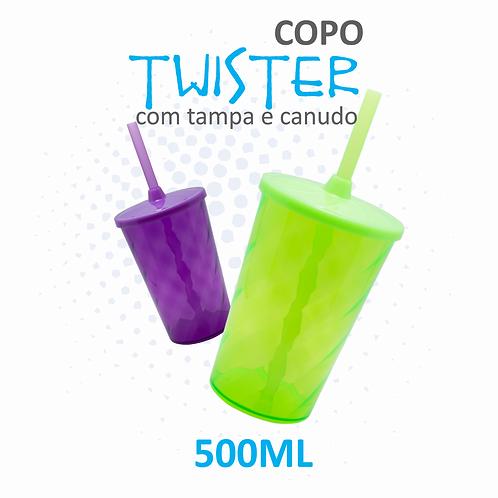 Copo Twister com Tampa e Canudo - 100 unidades