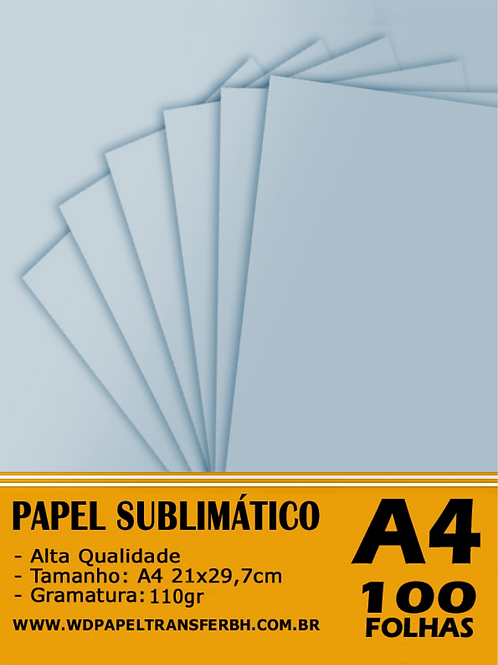 Papel Sublimação Azul - 110g - 100fls