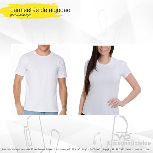 Camisas de Algodão Lisas - 10 unidades