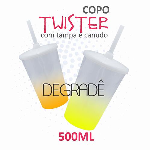 Copo Twister com Tampa e Canudo Degradê  - 100 unidades