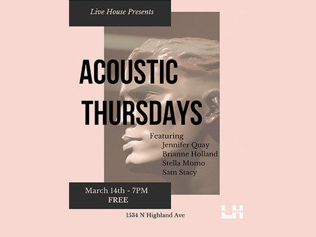 ACOUSTIC THURSDAYS MARCH 14TH