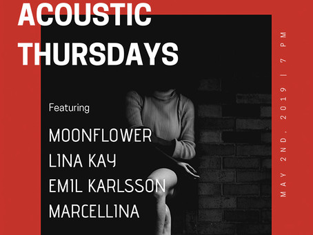ACOUSTIC THURSDAYS MAY 2ND
