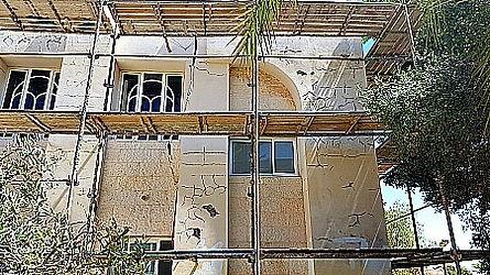 תיקון פגעים בקירות חיצוניים