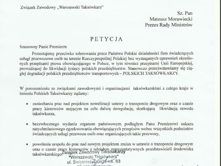 Petycja do Premiera