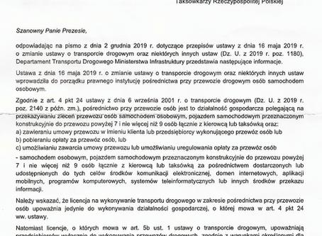 Licencja Pośrednika - Stanowisko Ministerstwa Infrastruktury